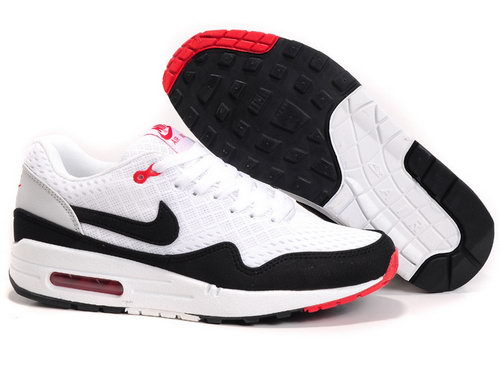 Nike Air Max 1 Unisex White Black Running Shoes Factory Store